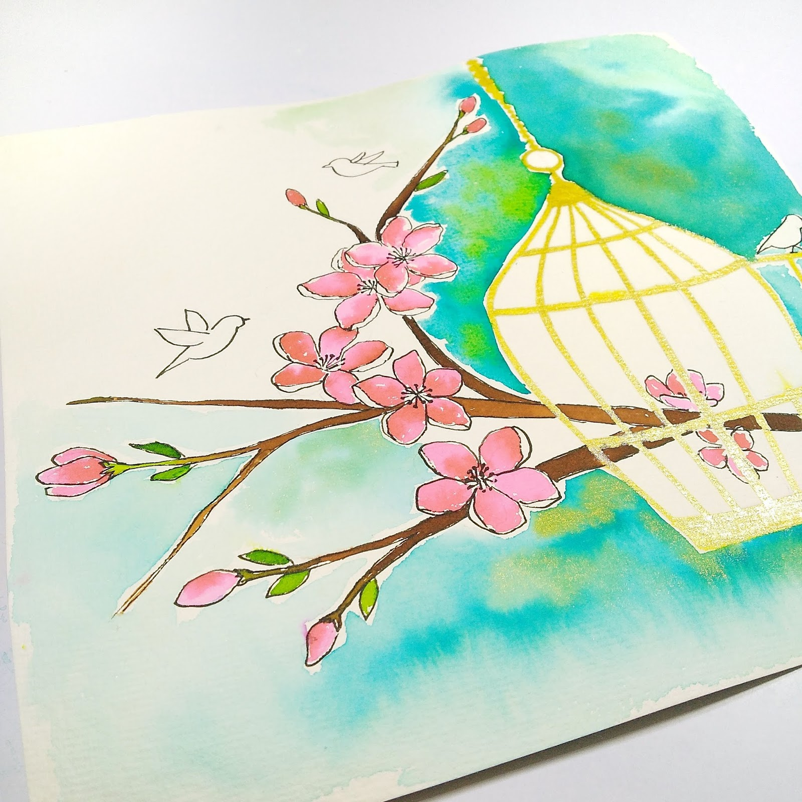 Watercolor Illustration Step by Step Tutorial 10