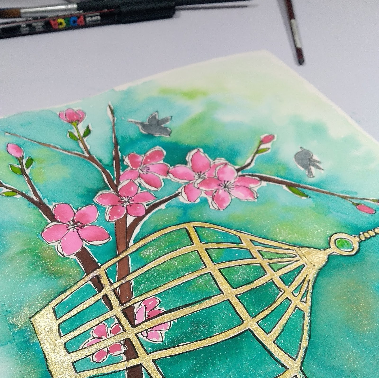 Watercolor Illustration Step by Step Tutorial 12
