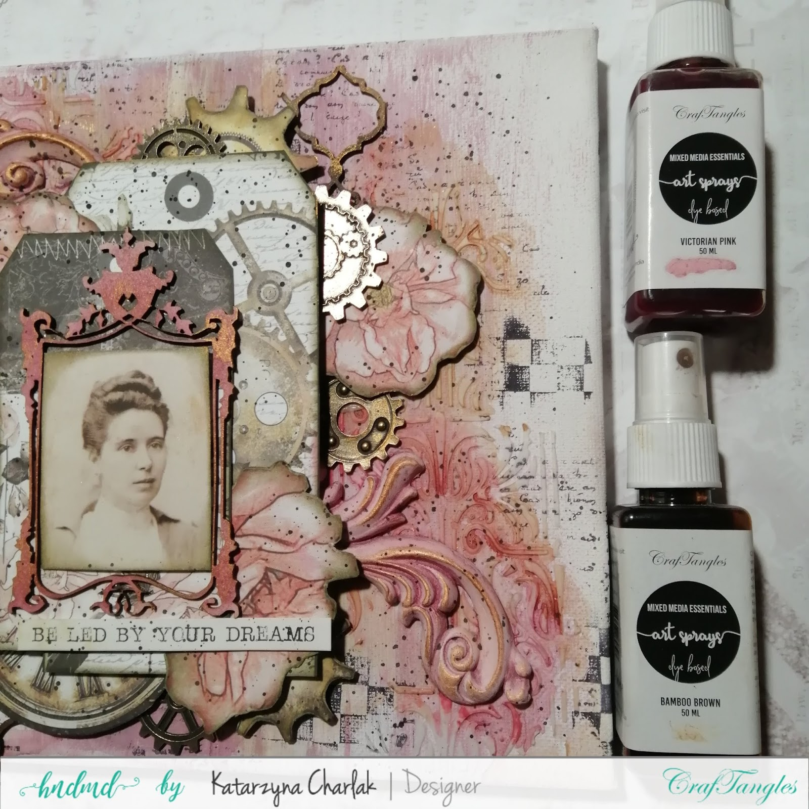Canvas in vintage style by Katarzyna Charlak 3