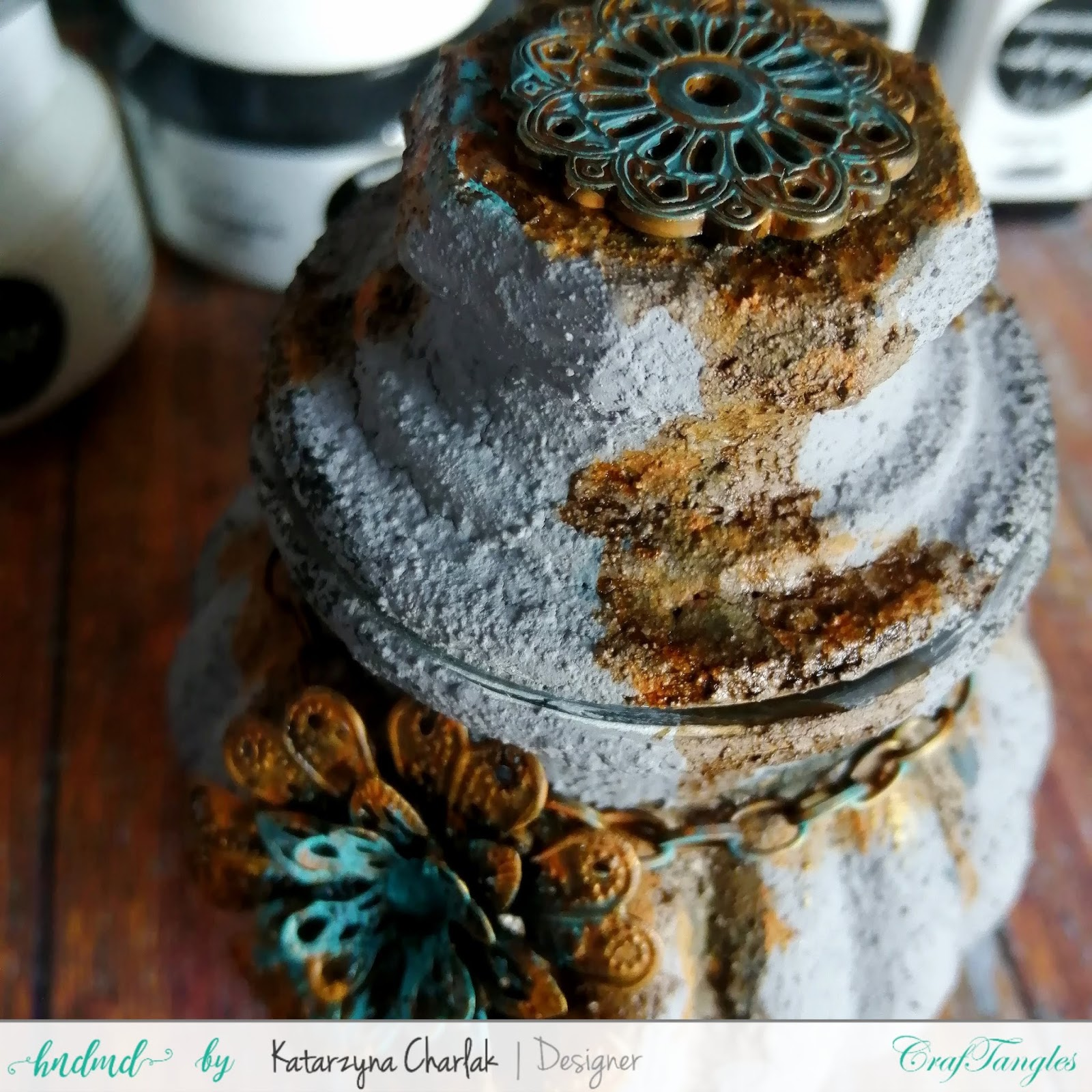 Glass jar with a stone effect by Katarzyna Charlak 4