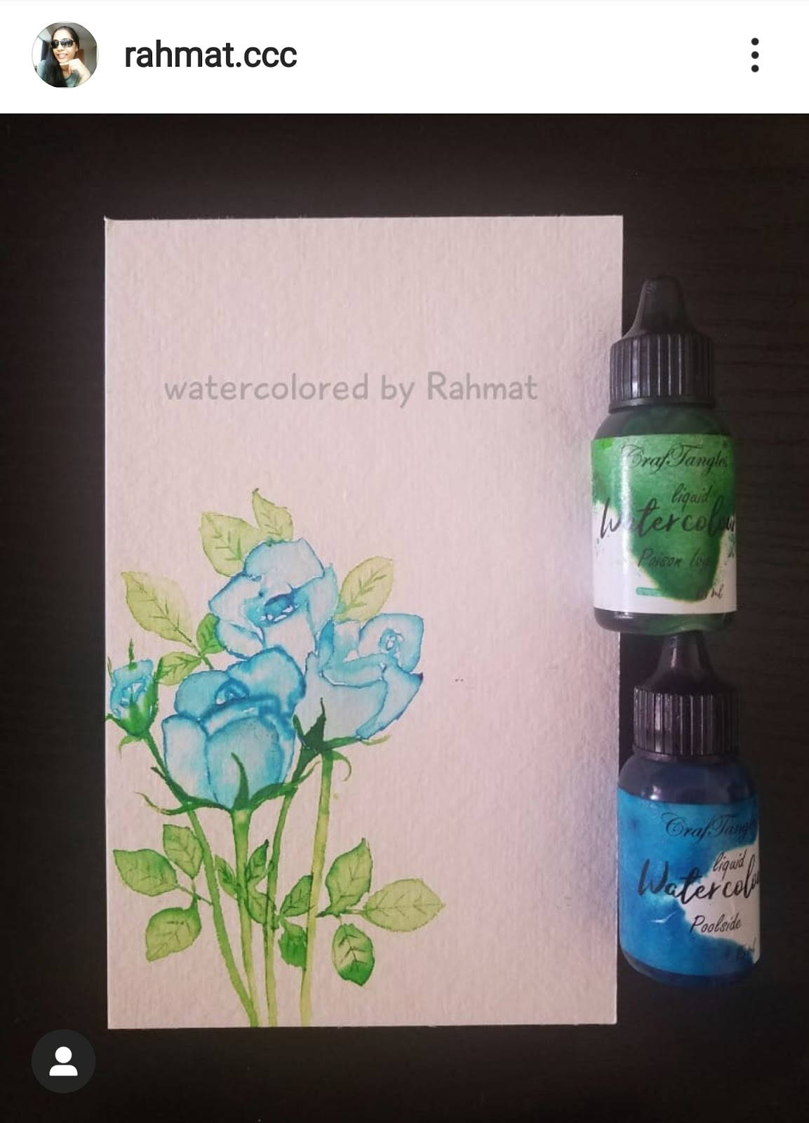 Freehand watercolord florals using Liquid watercolors 1
