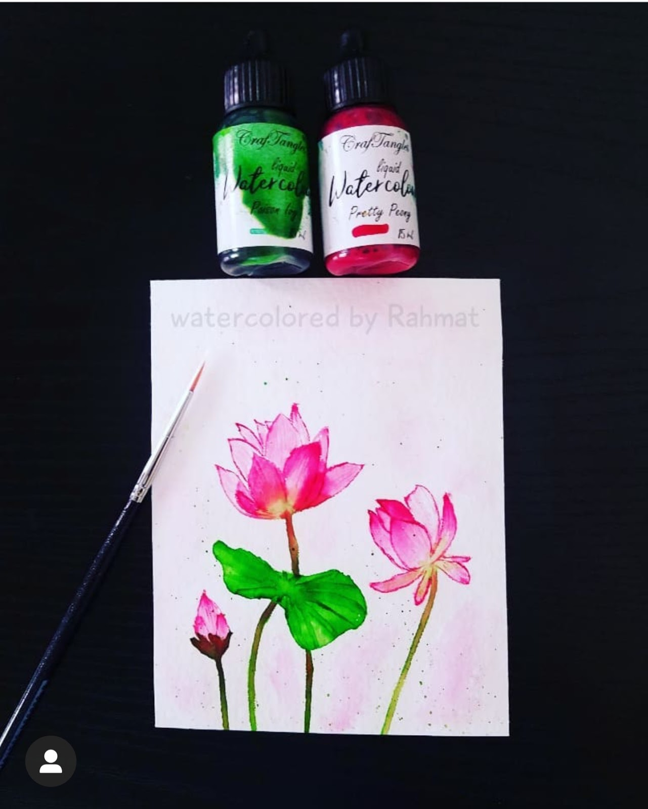 Freehand watercolord florals using Liquid watercolors 3