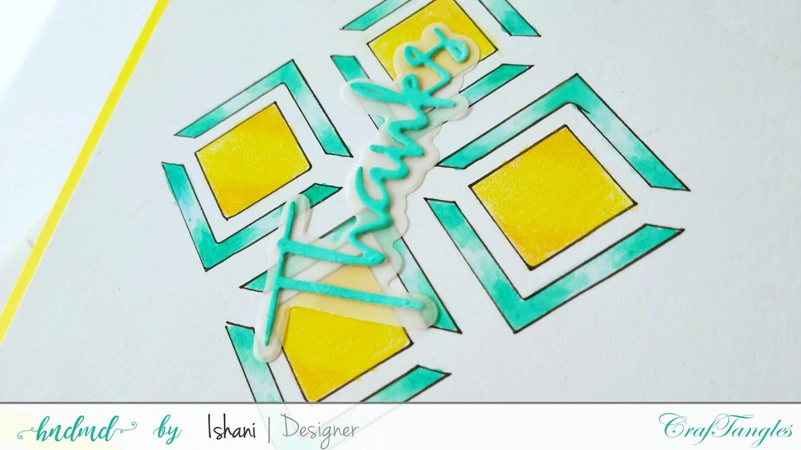 craftanglesstencils, chevron stencil, simply geometric stencil, neighbourhood stencil, waves stencil, craftangles glimmer paste, stretch your stencil, DT Ishani
