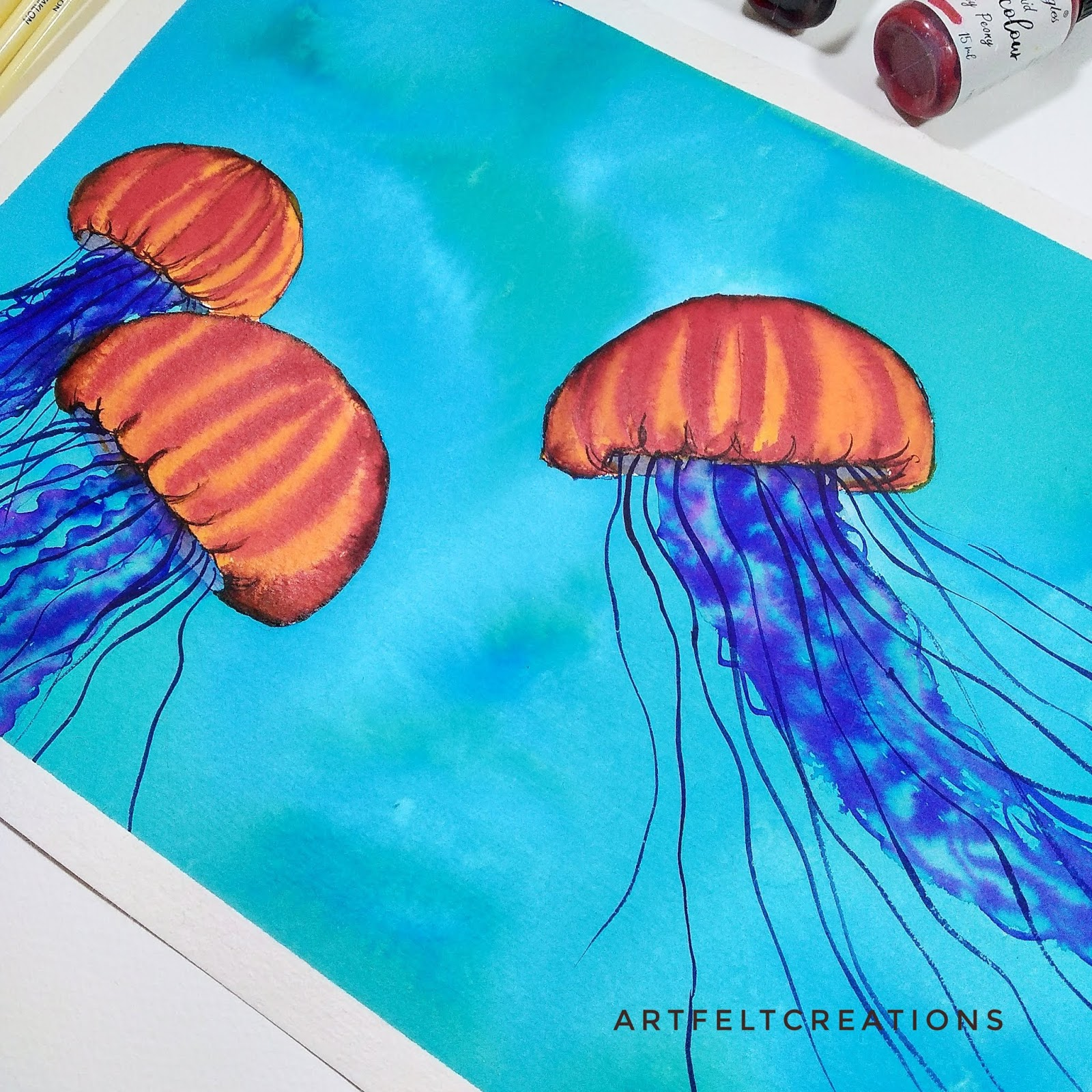 Watercolor Jelly Fish Tuorial 2