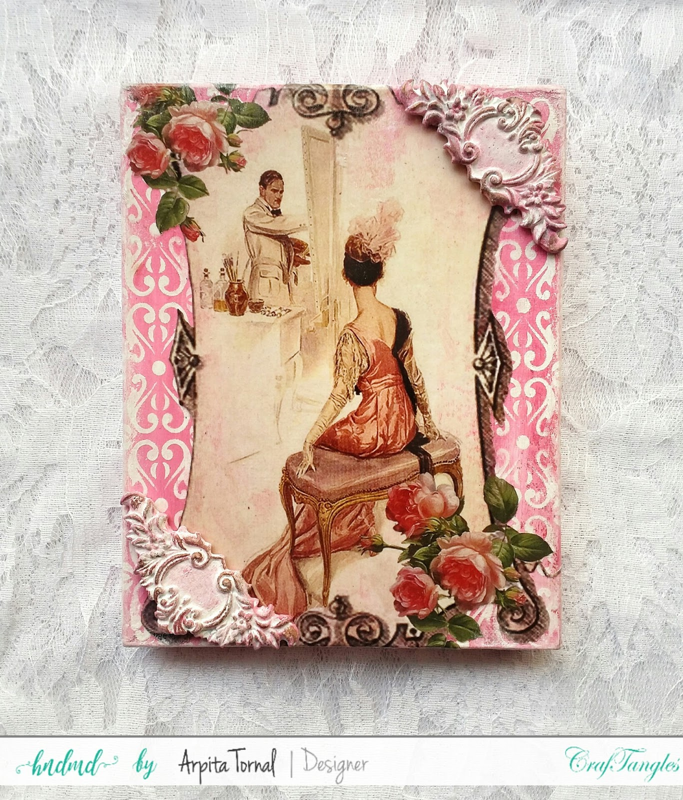 Decoupage'd Jewellery Box 4