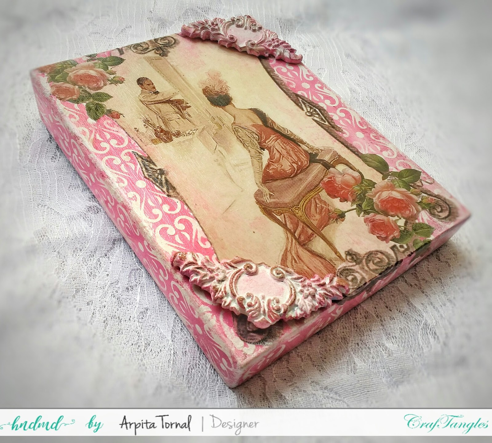 Decoupage'd Jewellery Box 6
