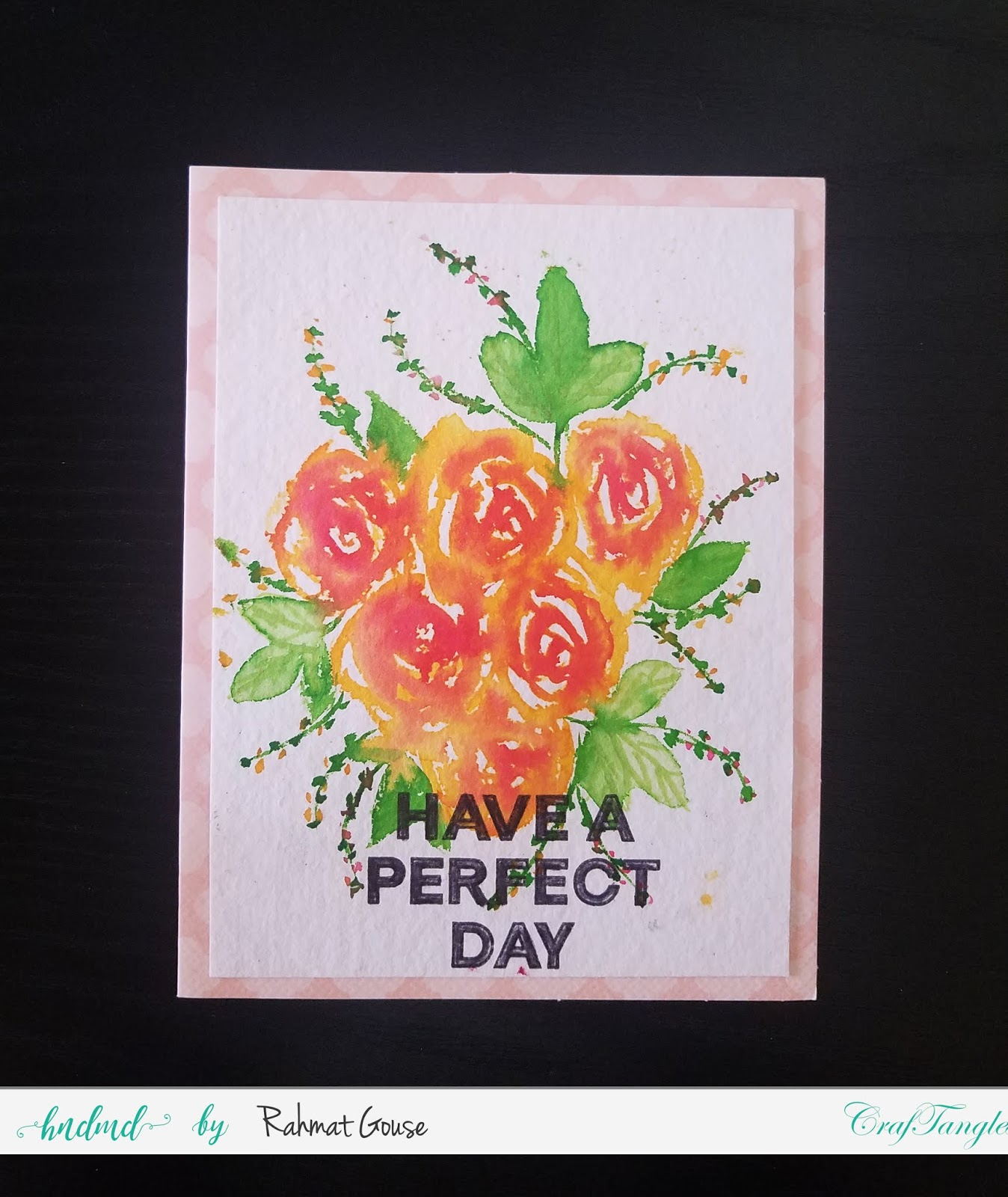 Freehand watercolord florals using Liquid watercolors 6