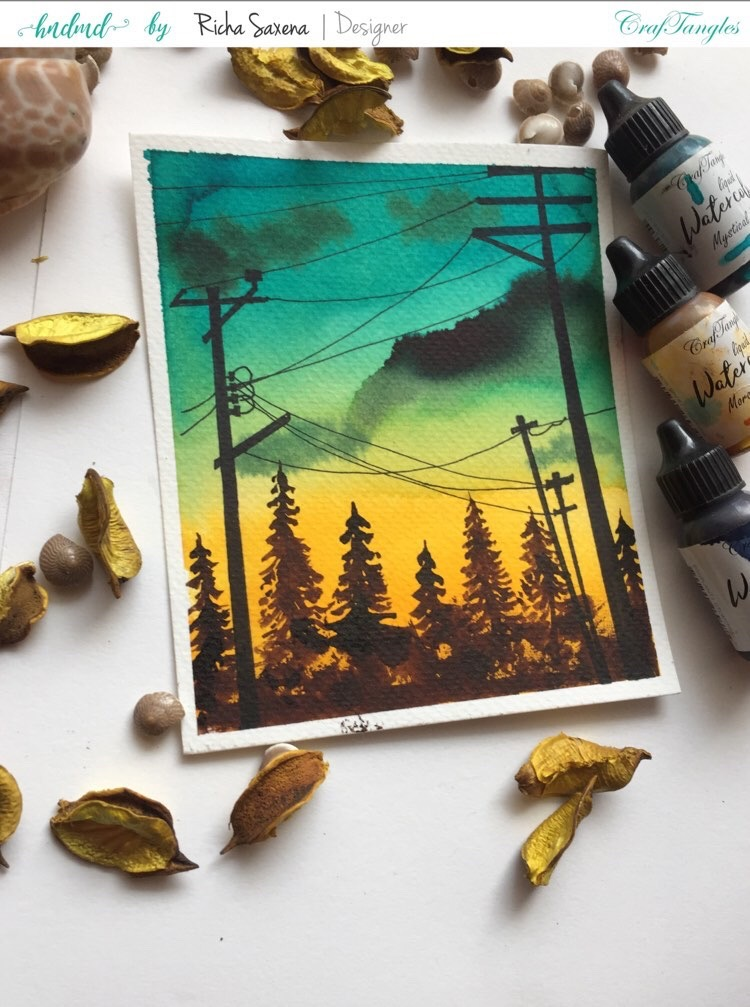 Watercolour landscape 3