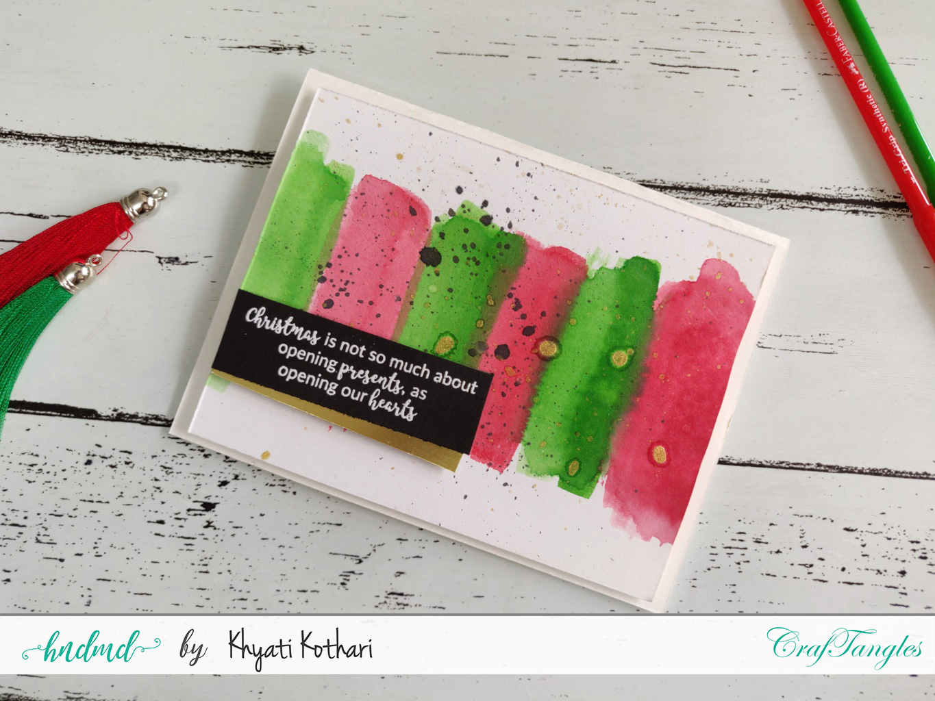 CAS Christmas cards with video tutorial - Decemeber 2019 monthly challenge inspiration 4