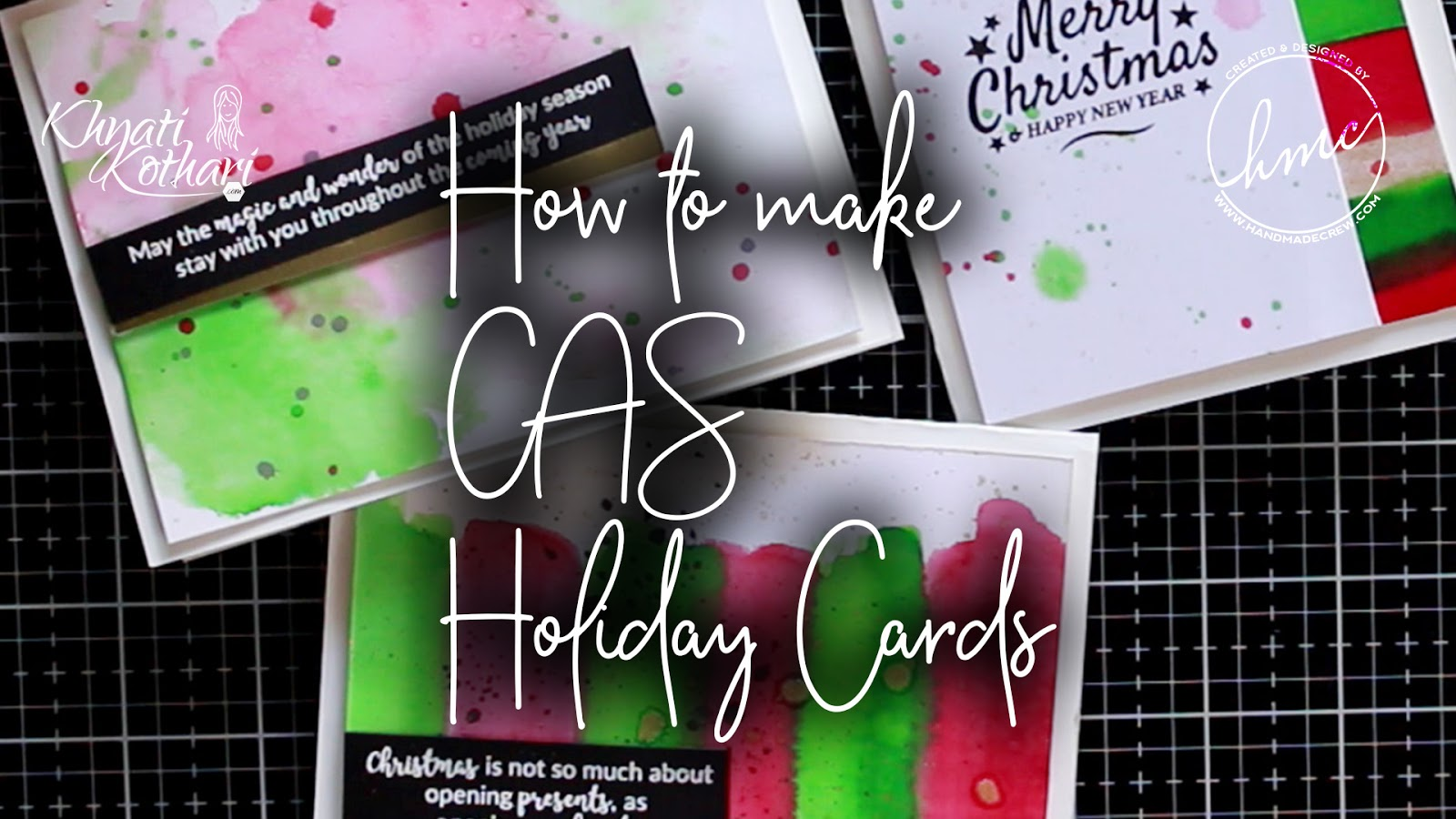 CAS Christmas cards with video tutorial - Decemeber 2019 monthly challenge inspiration 2
