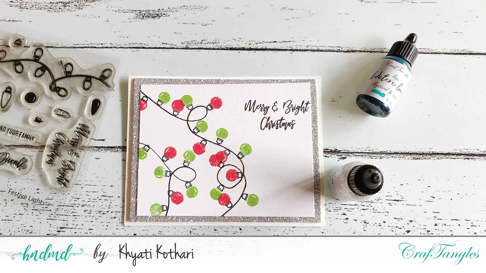 Classic String of lights Festive cards with Video tutorial 2