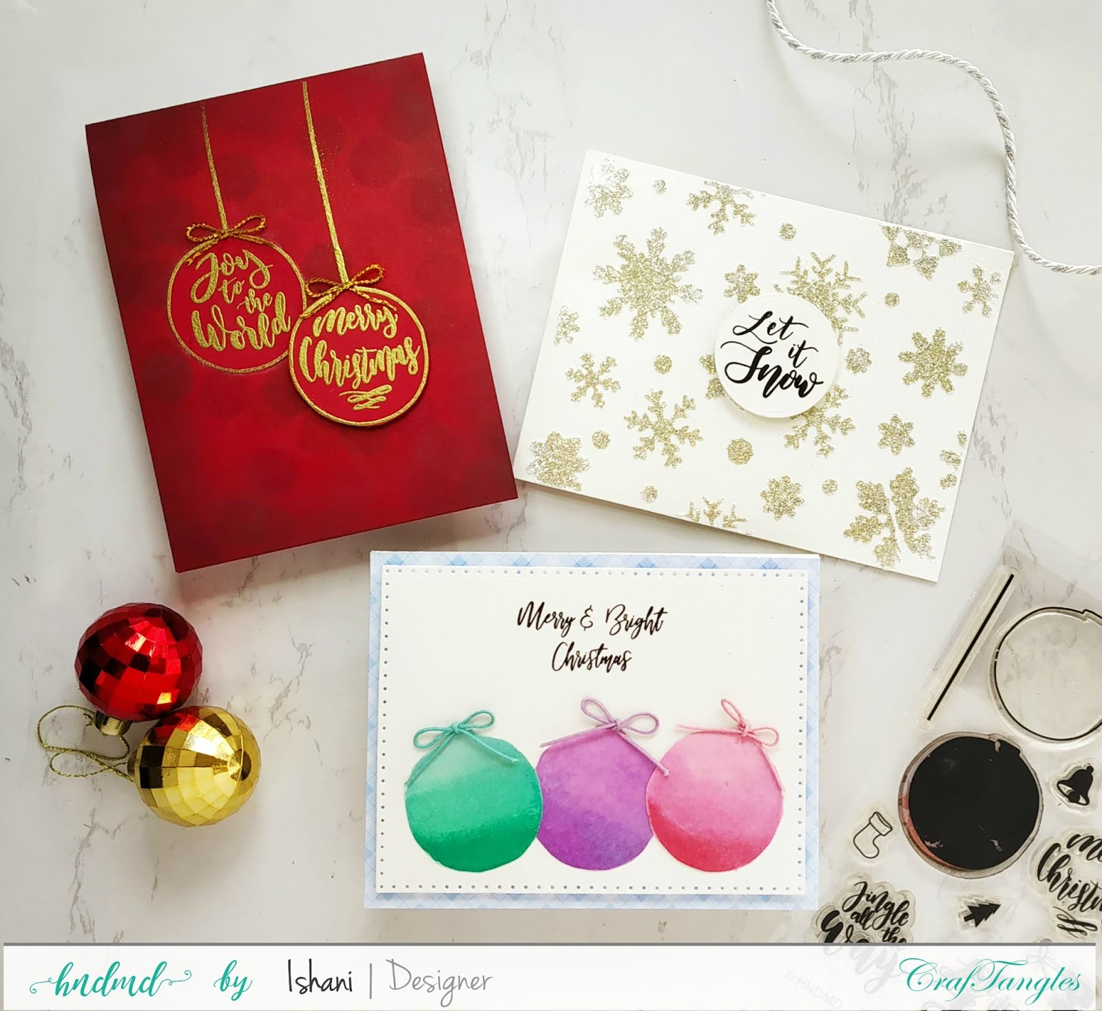 Christmas card ideas with one stamp set - Video Tutorial 4