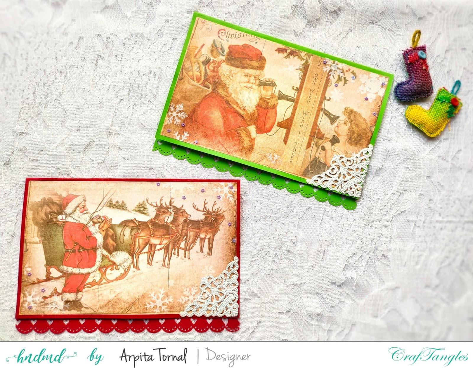 Decoupaged Christmas Cards 3