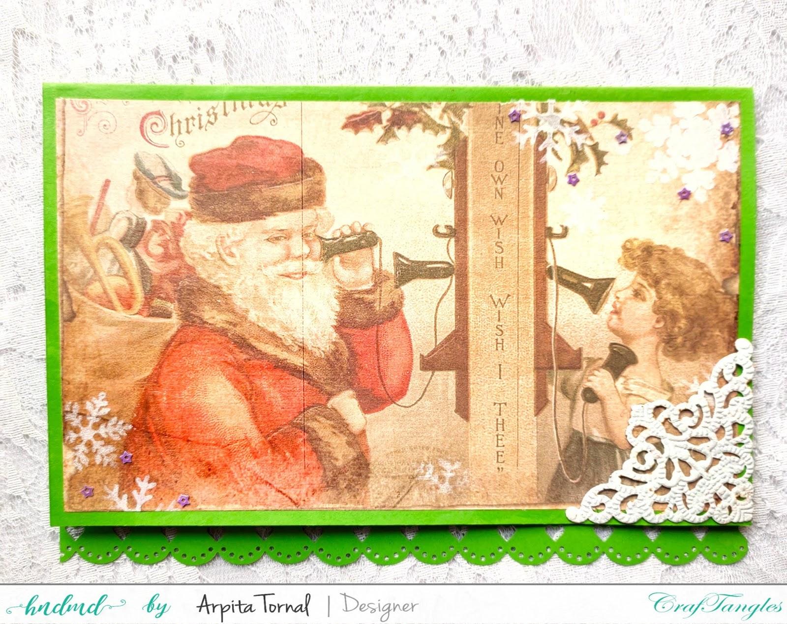 Decoupaged Christmas Cards 1