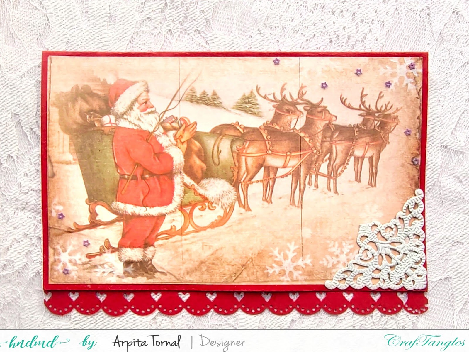 Decoupaged Christmas Cards 2