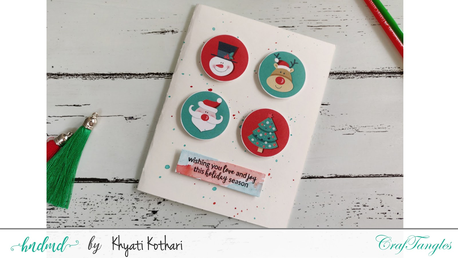 Quick and easy Christmas Cards with Video tutorial 4