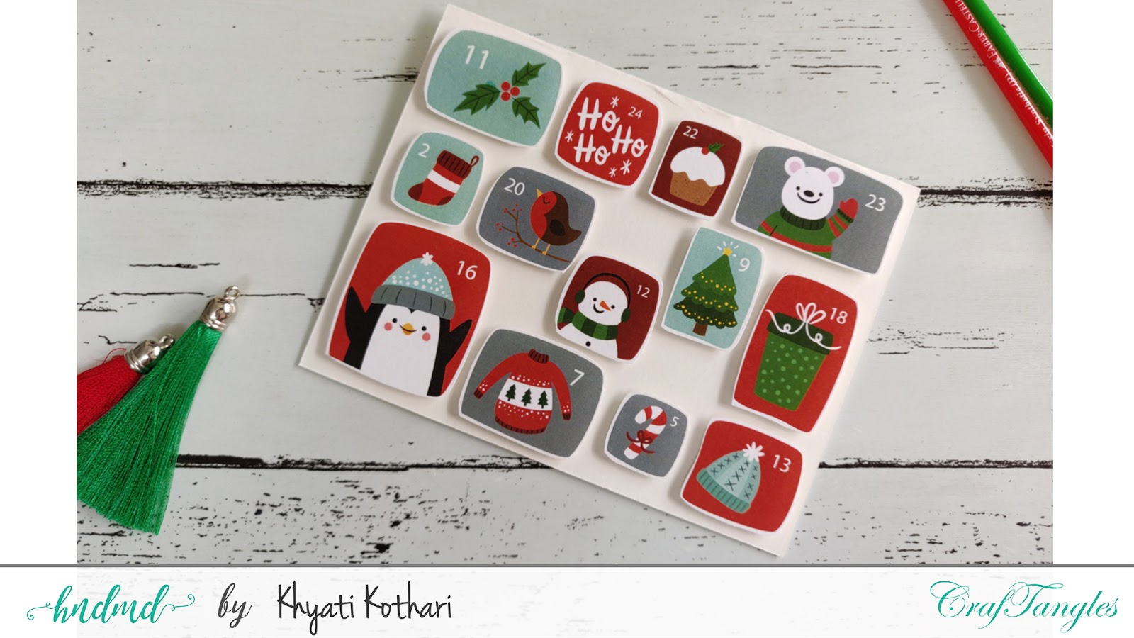 Quick and easy Christmas Cards with Video tutorial 16