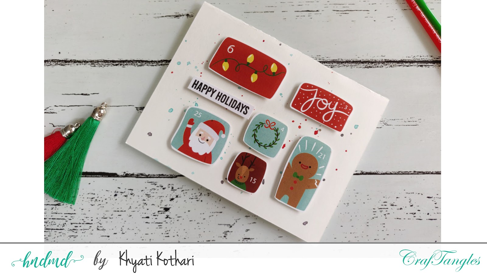 Quick and easy Christmas Cards with Video tutorial 2