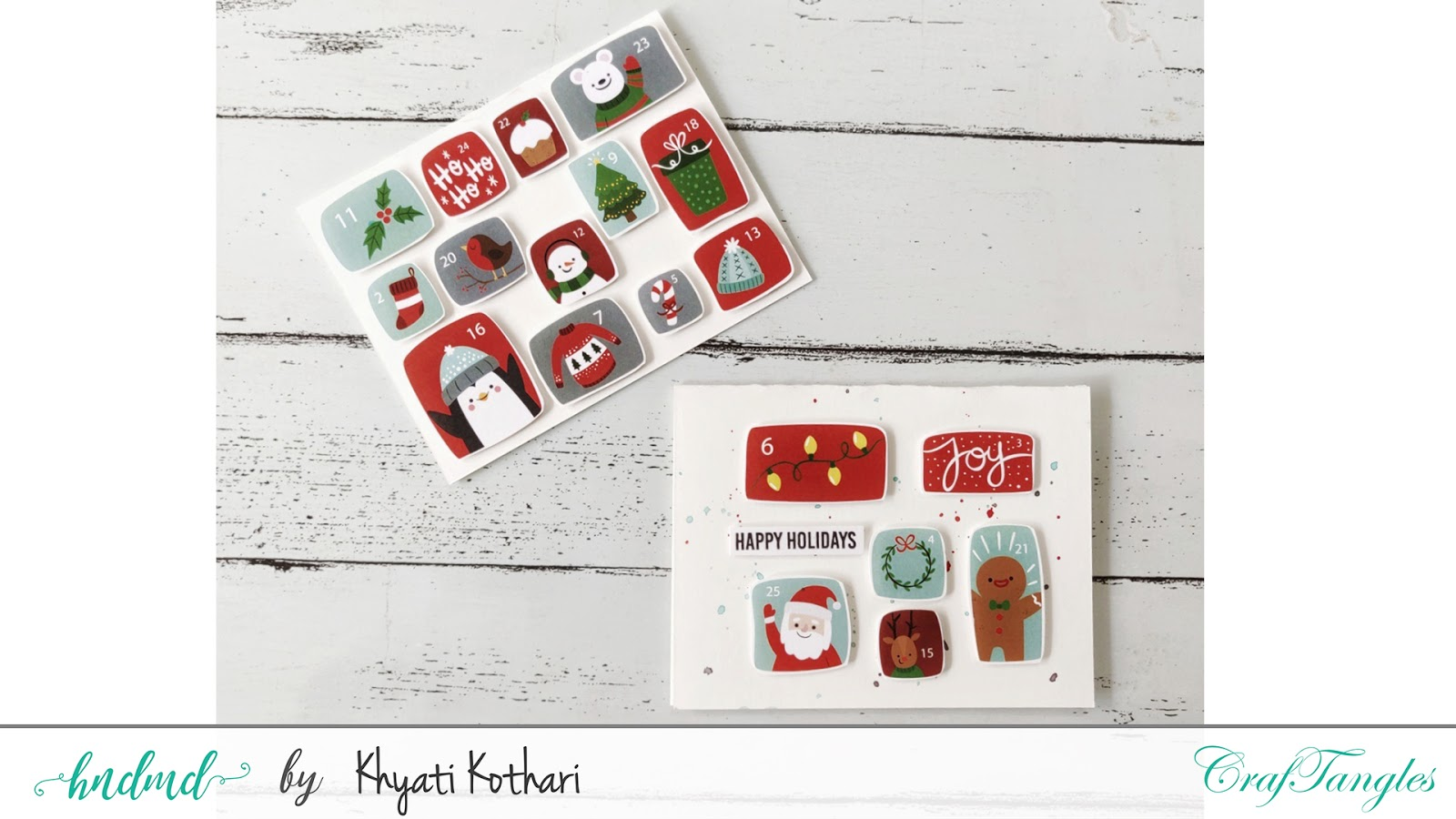 Quick and easy Christmas Cards with Video tutorial 3