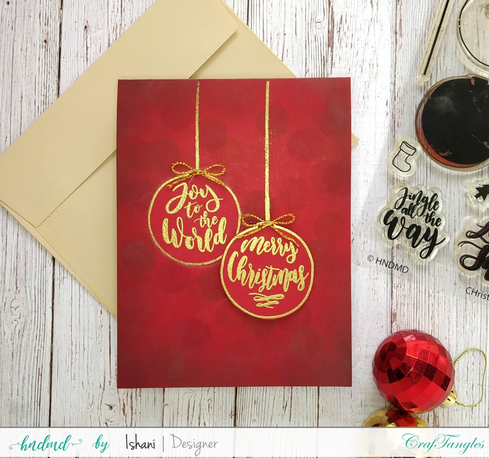 Christmas card ideas with one stamp set - Video Tutorial 3