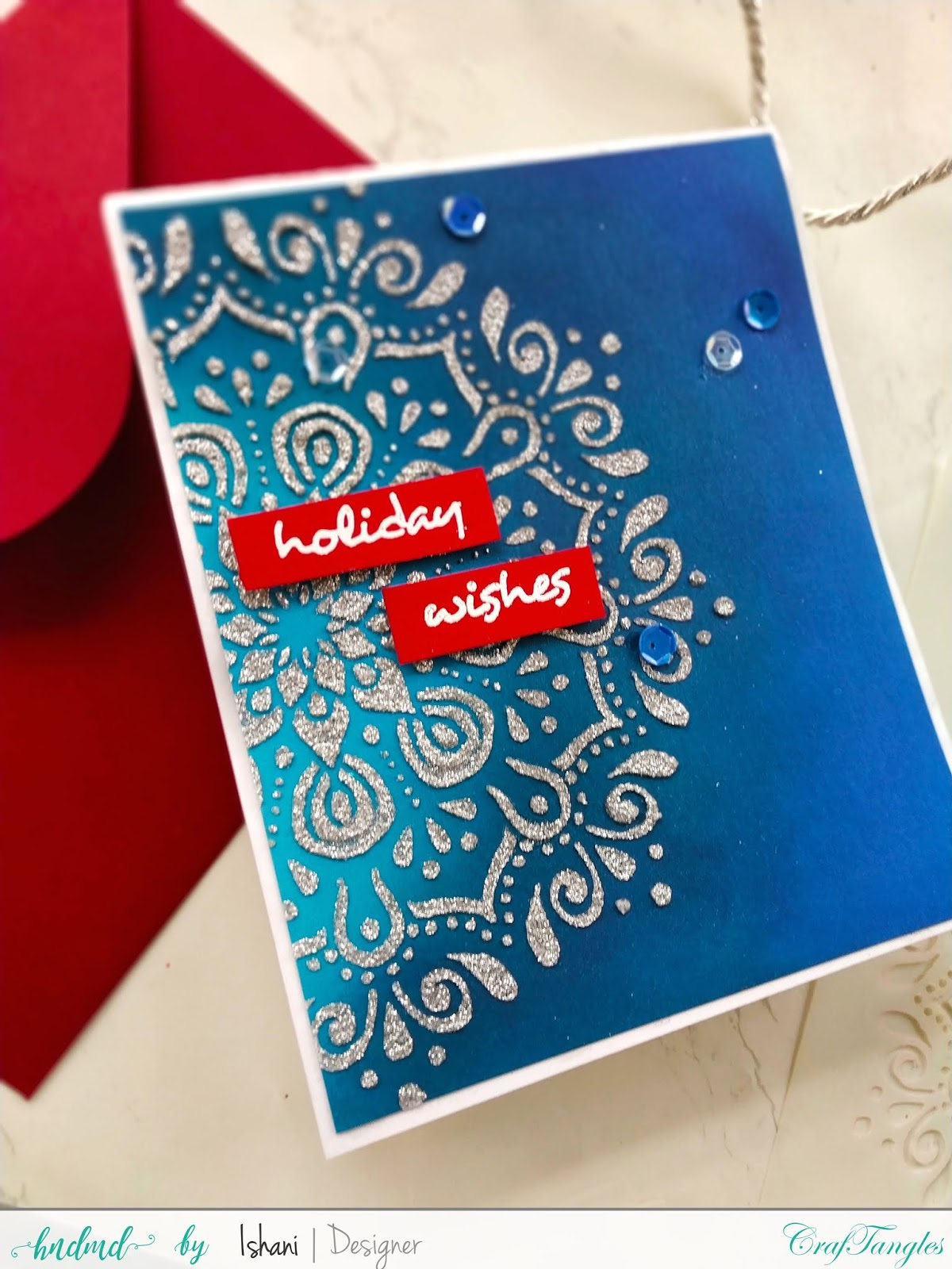Use Non Christmas supplies for Christmas cards - Video tutorial 2