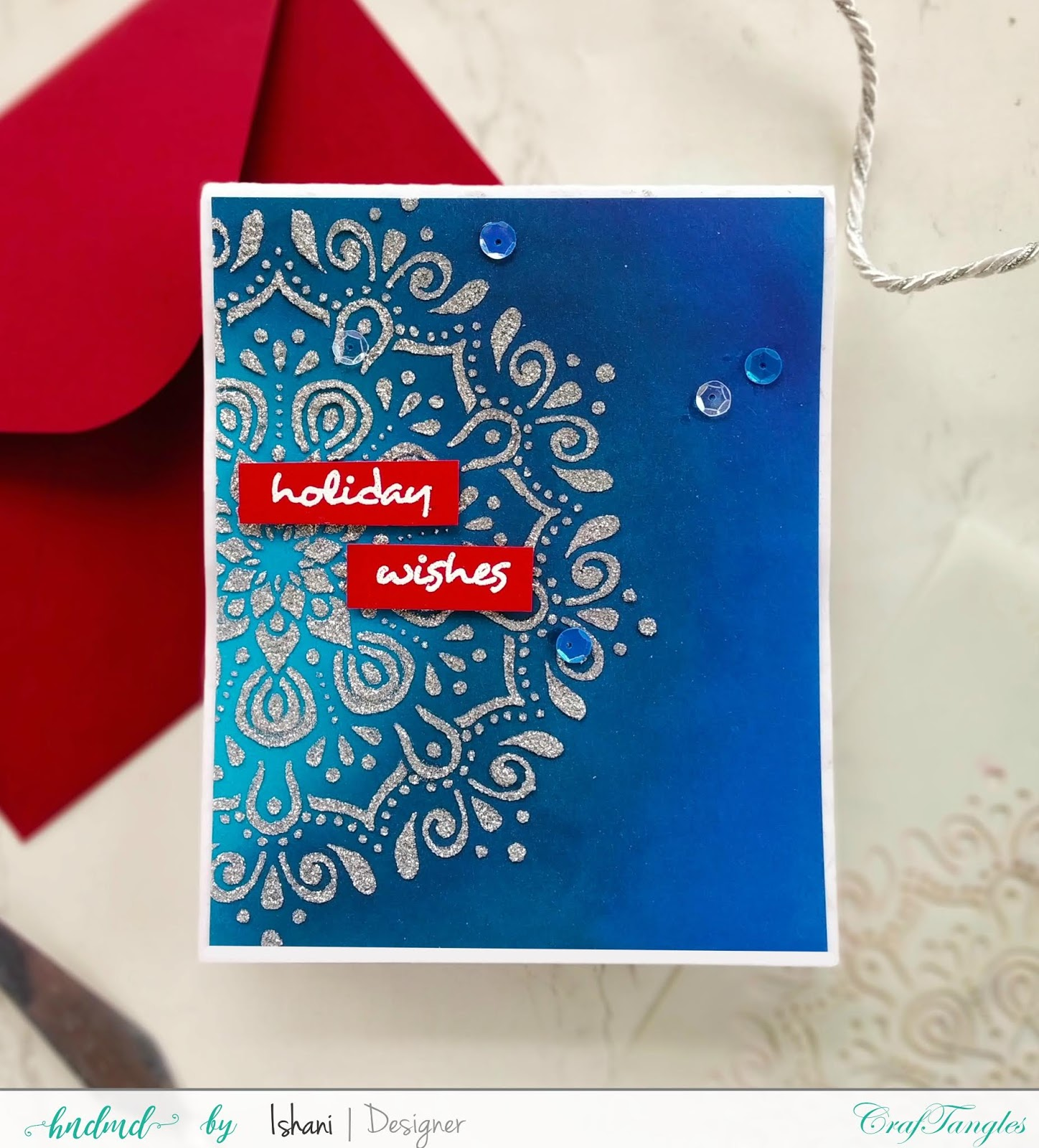 Use Non Christmas supplies for Christmas cards - Video tutorial 3