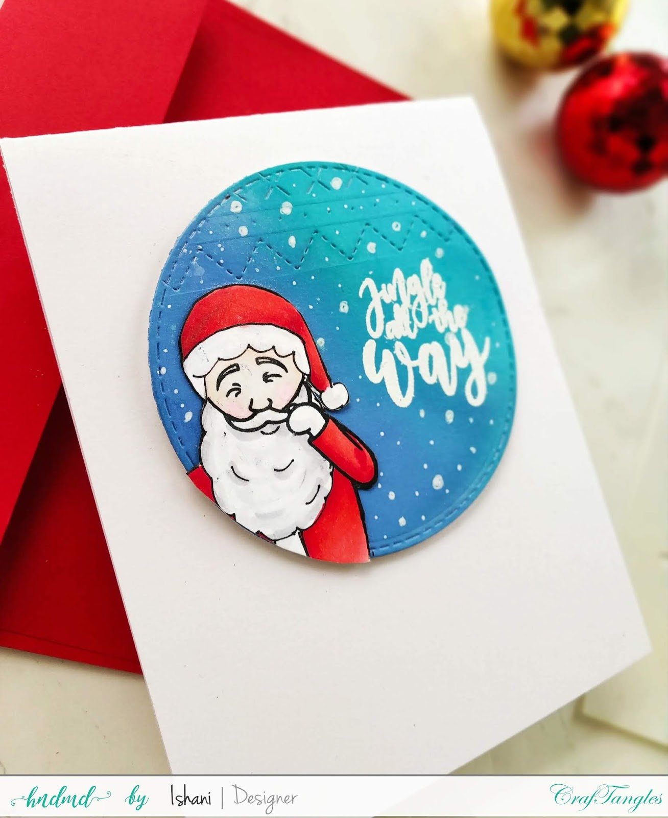 Use Non Christmas supplies for Christmas cards - Video tutorial 6