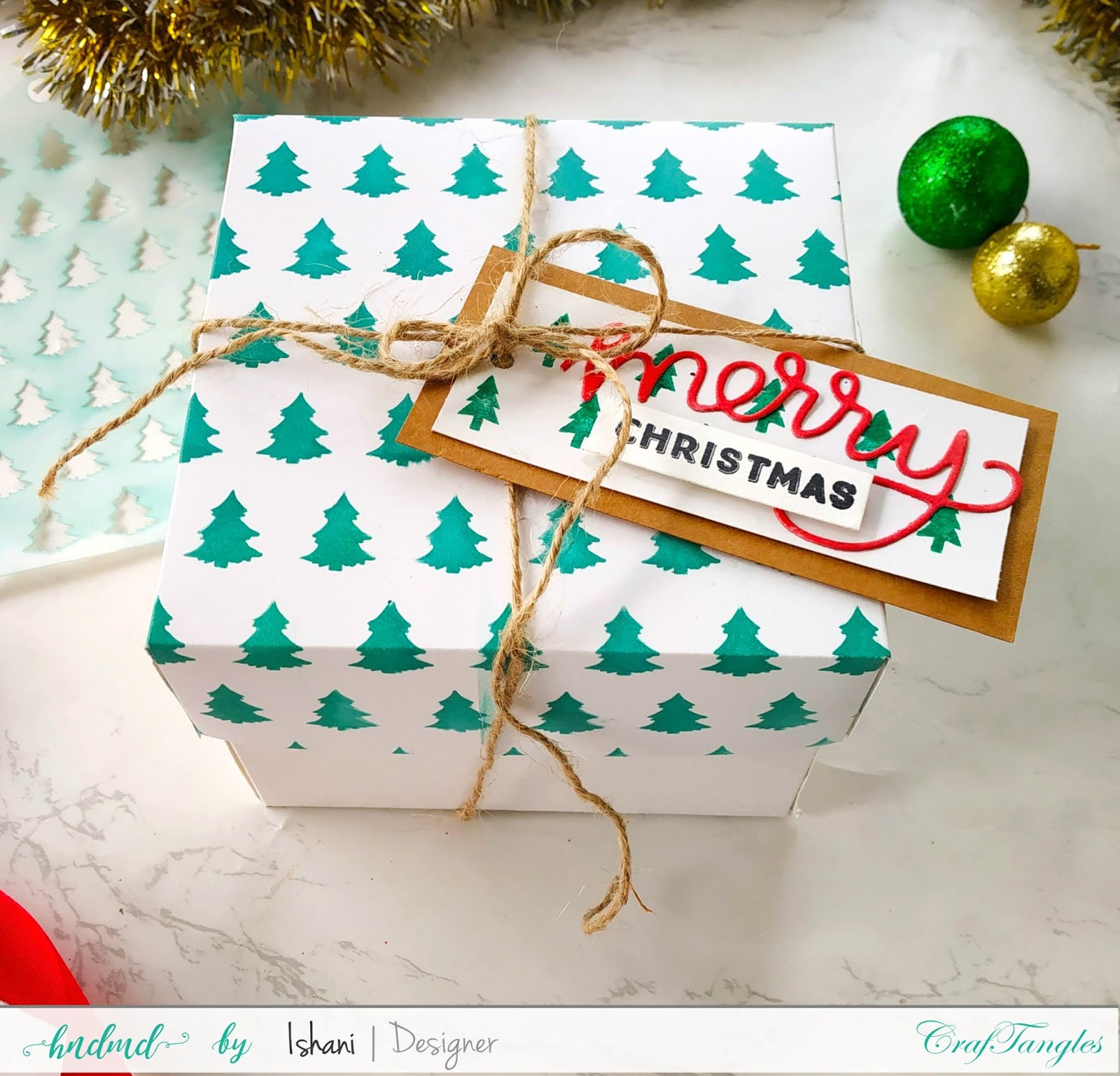 Use Non Christmas supplies for Christmas cards - Video tutorial 4