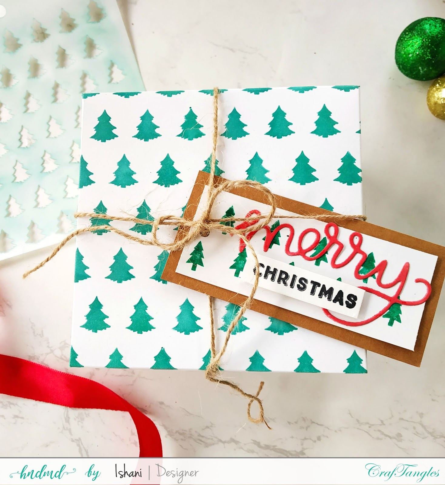 Use Non Christmas supplies for Christmas cards - Video tutorial 5