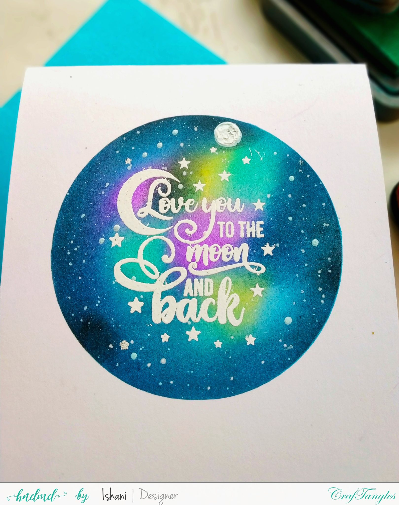 One layer cards with Masking stencils - Video tutorial 4
