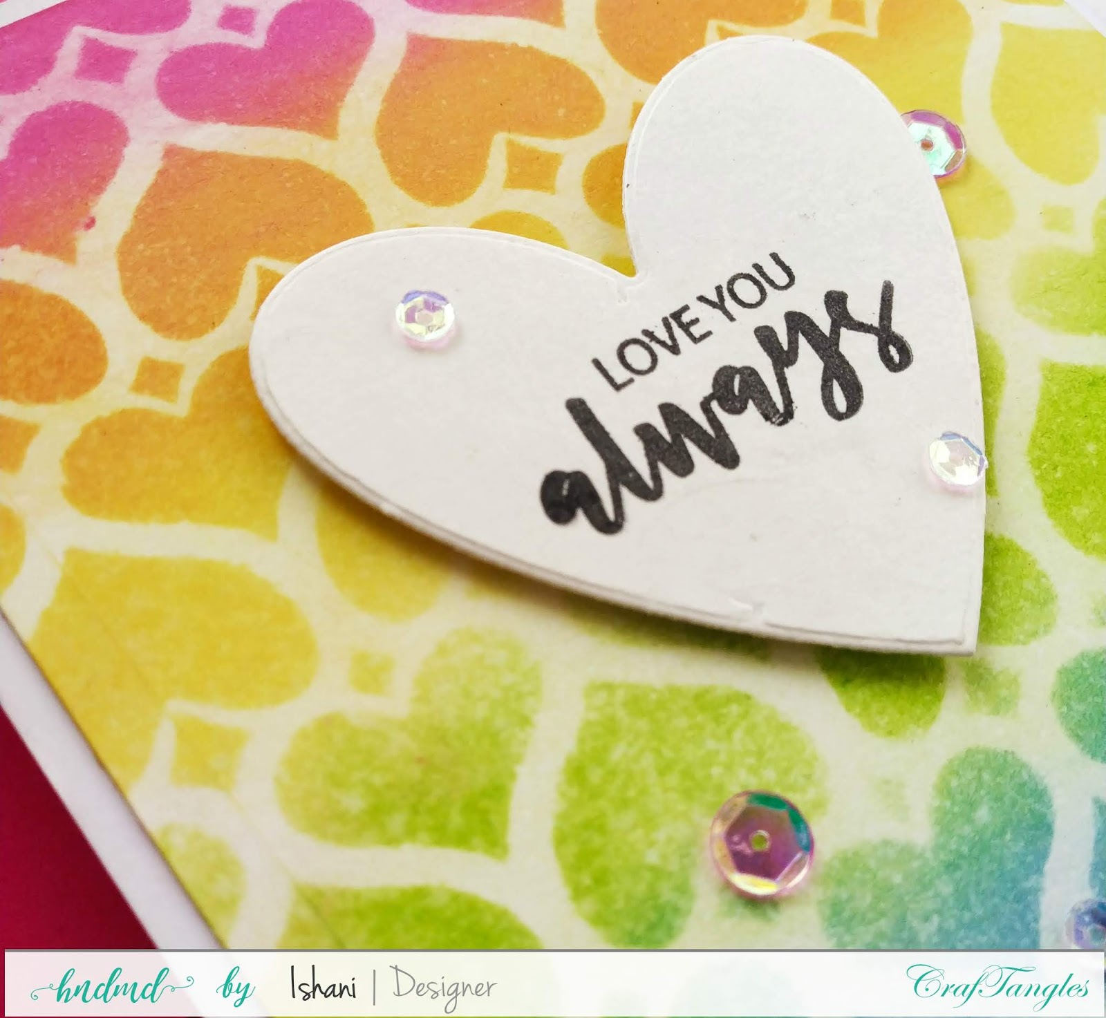 CrafTangles Monthly Challenge - January 2020 - Love 5