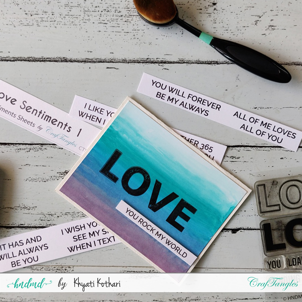 Watercolor CAS Love card - Video tutorial 4
