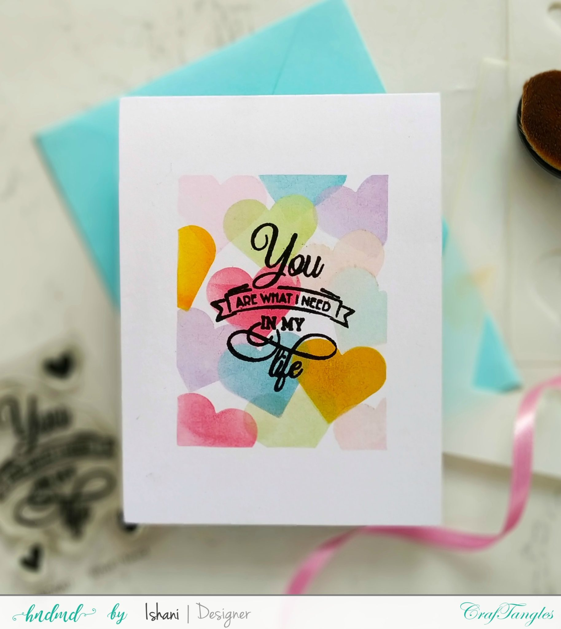 One layer cards with Masking stencils - Video tutorial 5