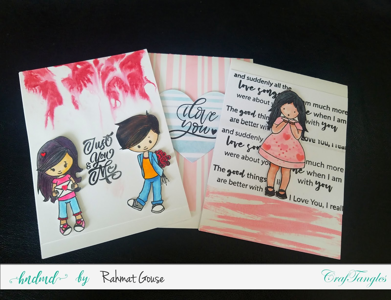 CrafTangles monthly challenge - Valentine's cards - Rahmat 5