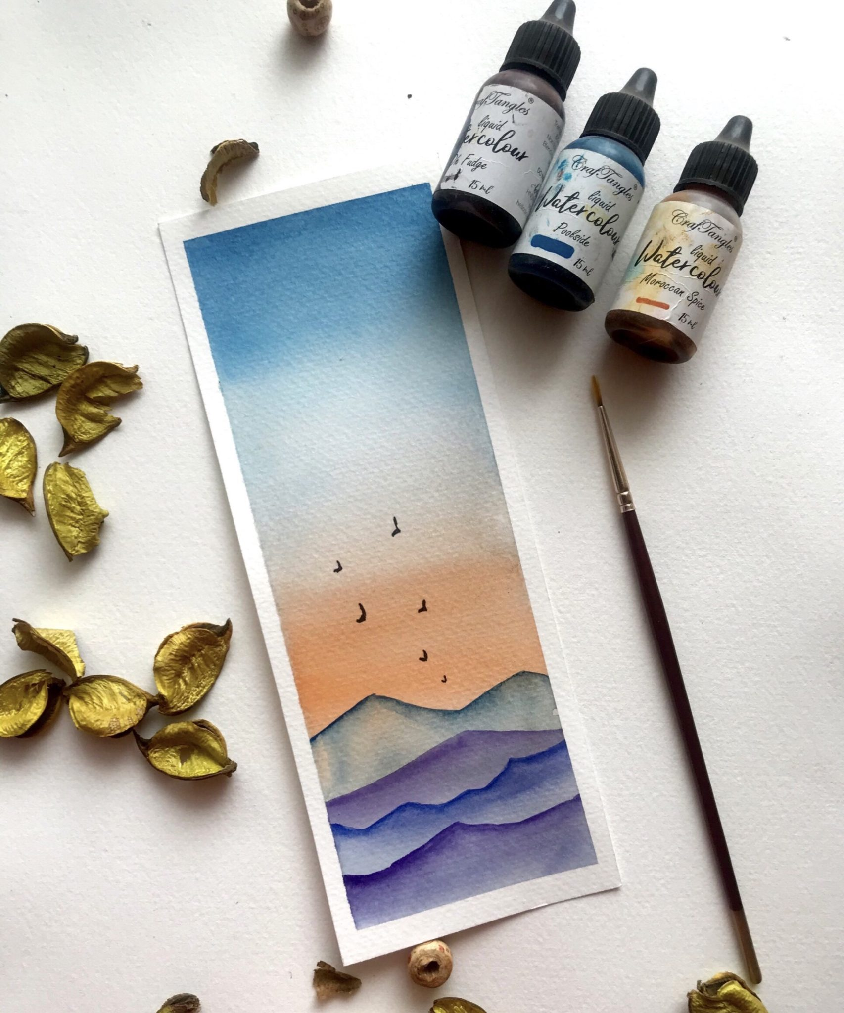 A DIY Watercolour Bookmarks tutorial 1