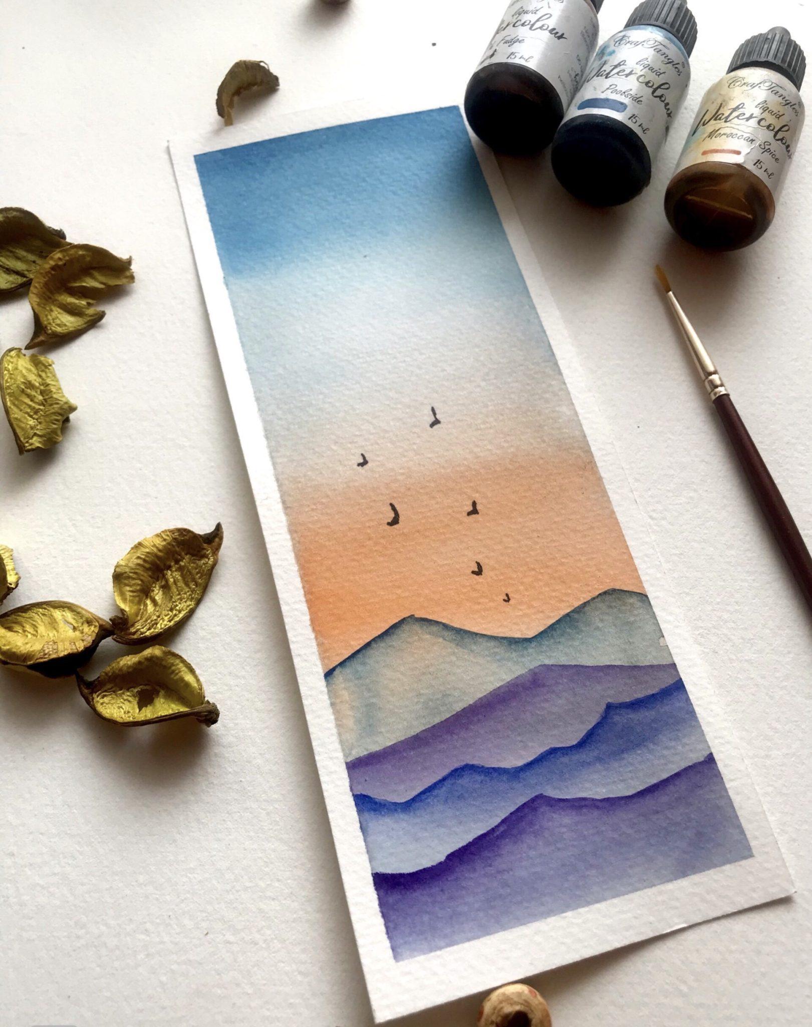 A DIY Watercolour Bookmarks tutorial 2