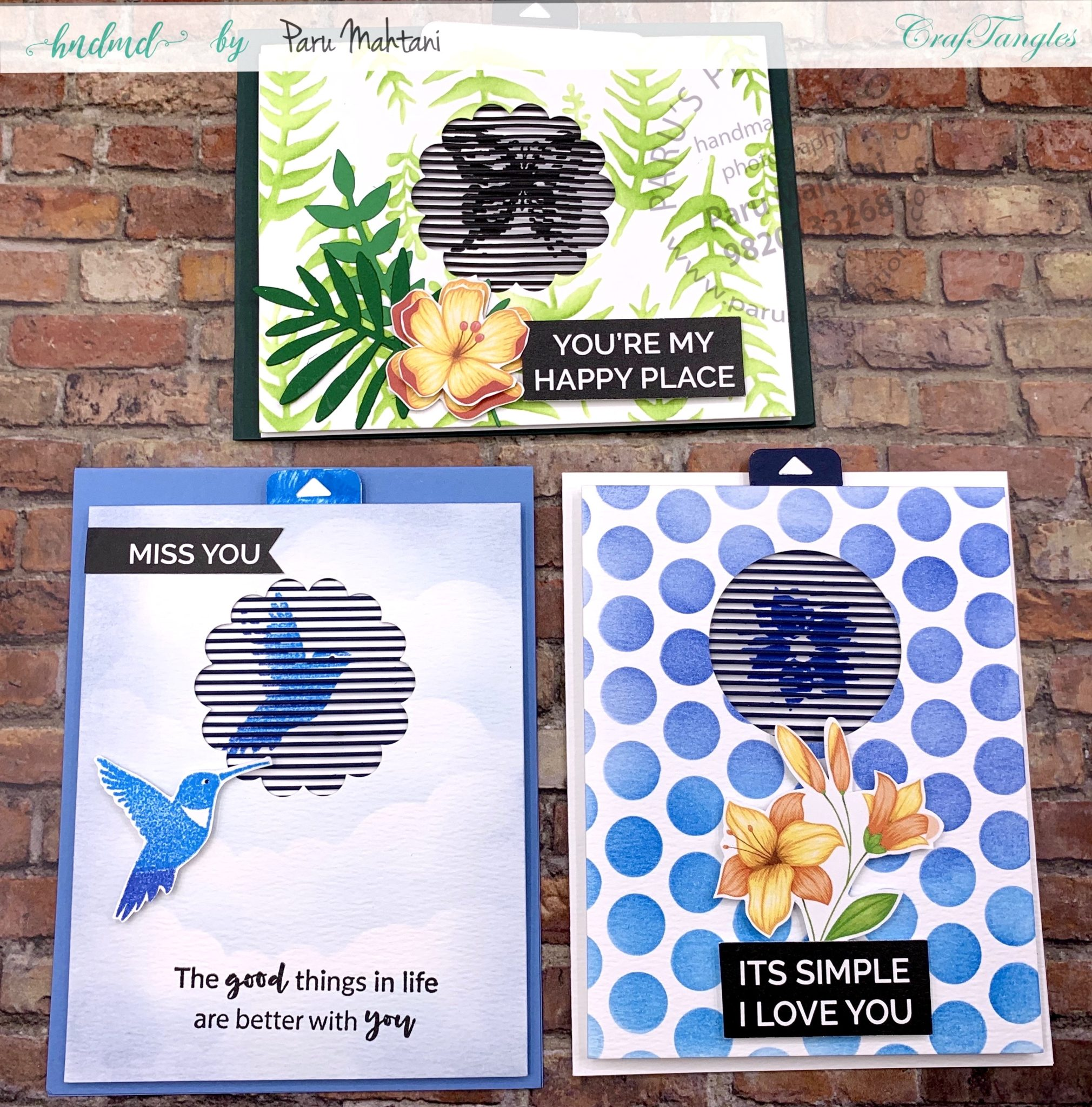 3 easy to make animated spring flower cards 1