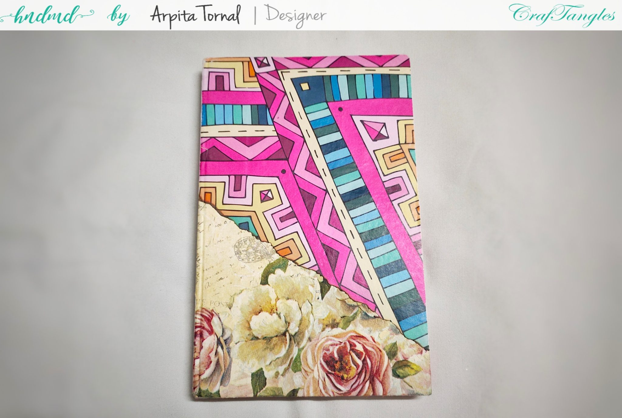 4 steps to make Decoupage Diary/Book quickly 4