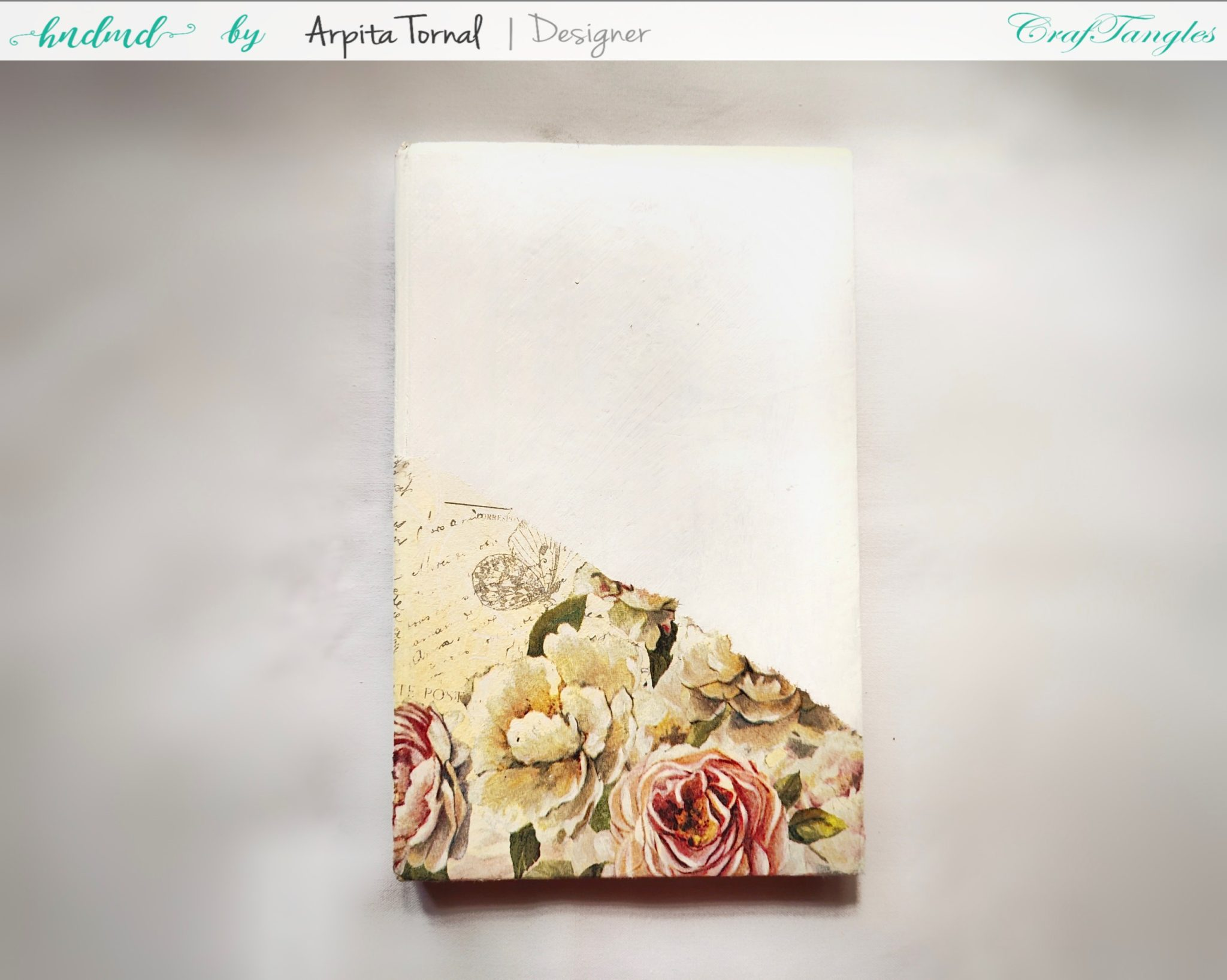 4 steps to make Decoupage Diary/Book quickly 2