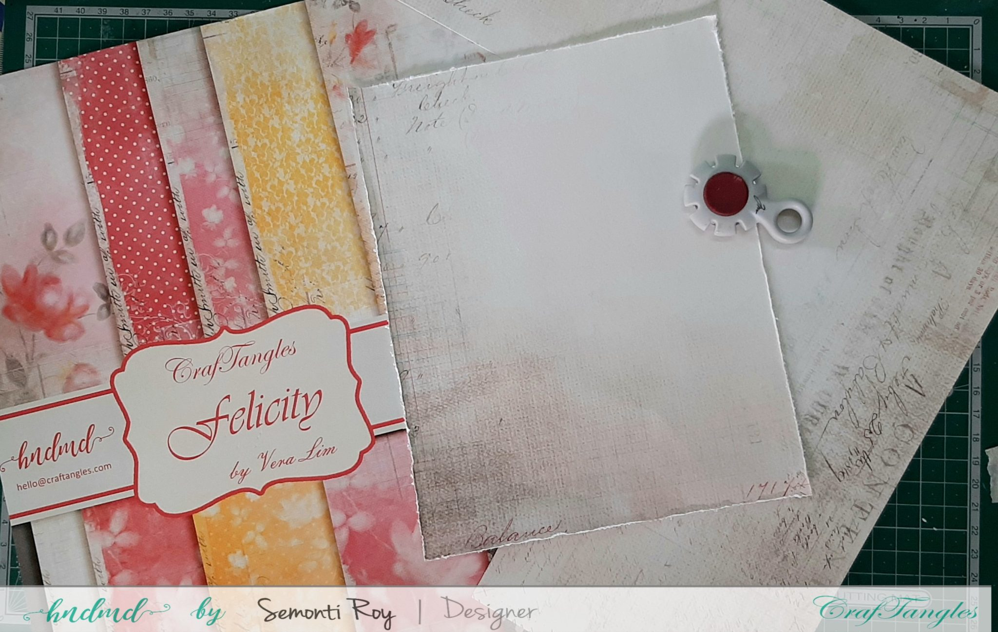Designer Paper Gift Bag With Mixed Media Technique 2