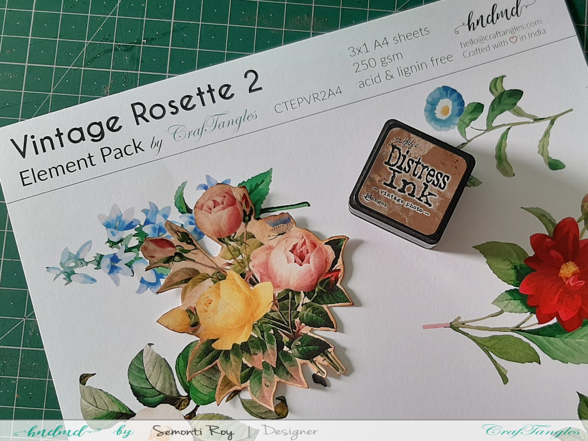 Designer Paper Gift Bag With Mixed Media Technique 7
