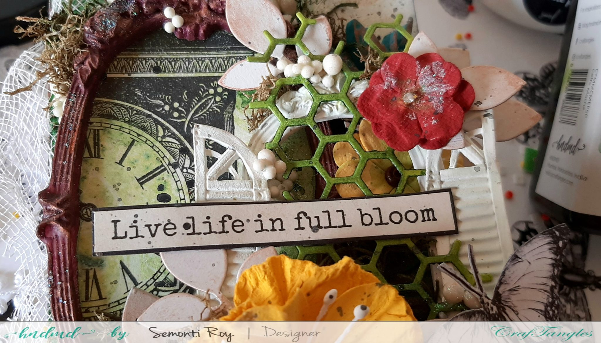 How to make beautiful Mixed Media Fridge Magnet 4
