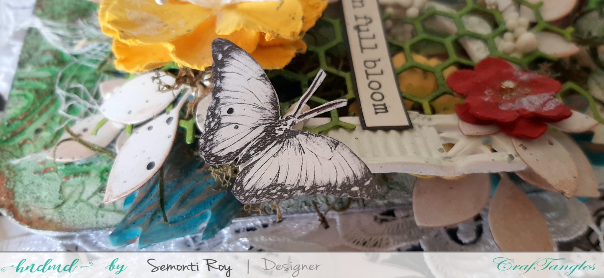 How to make beautiful Mixed Media Fridge Magnet 3