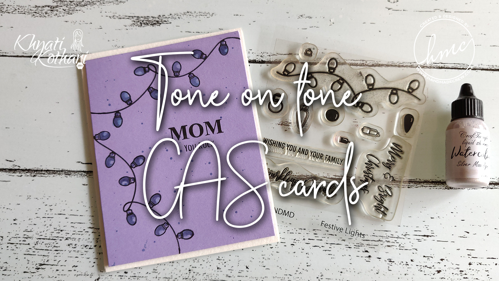 Easy Tone on tone CAS cards 2