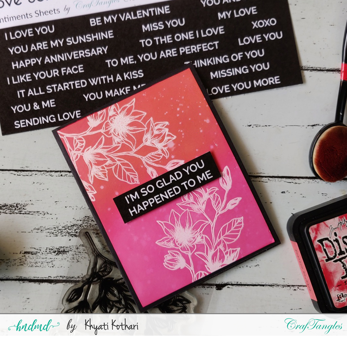 How to do ink blending [Cardmaking Idea] 7