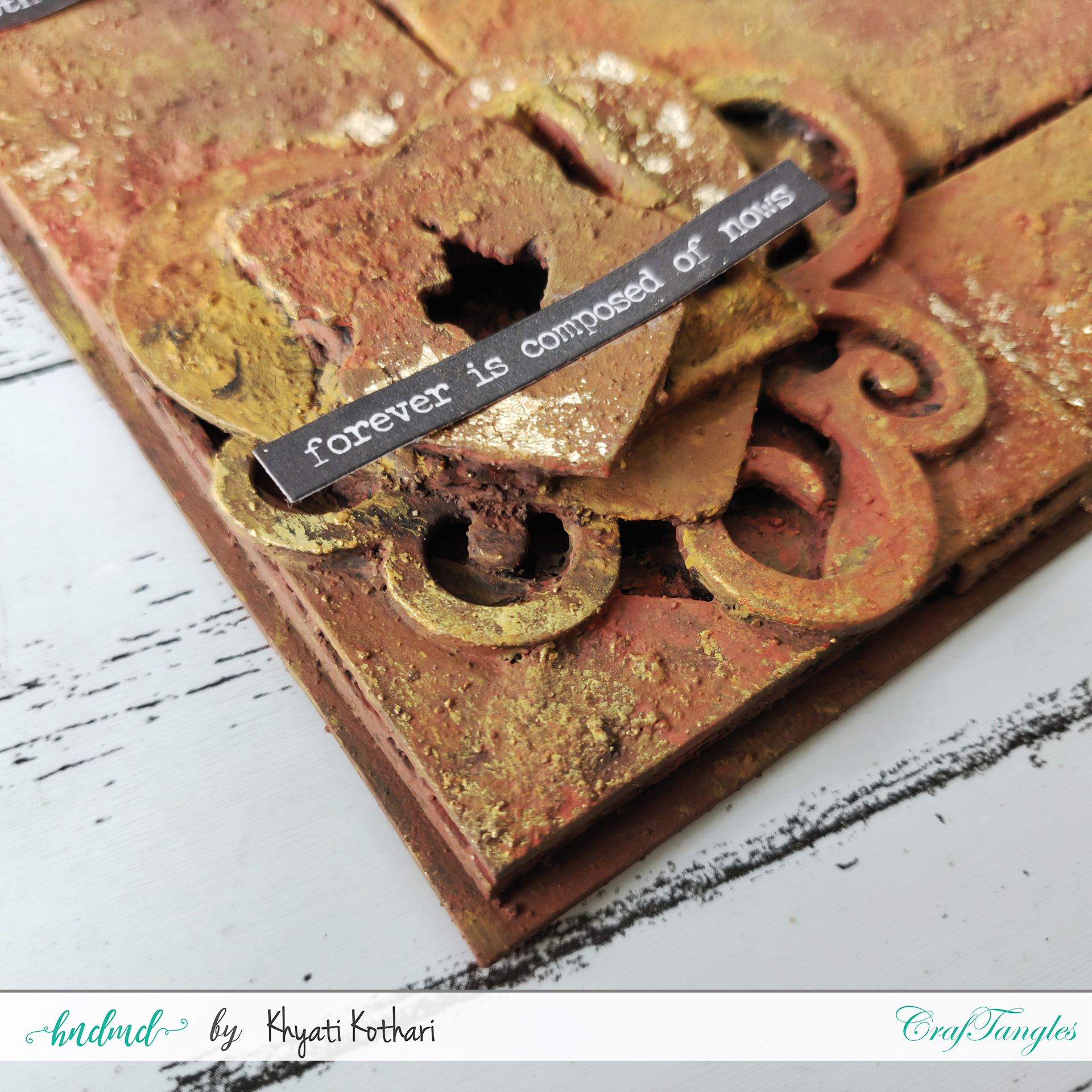 How to make a simple Altered Frame from Chipboard 1