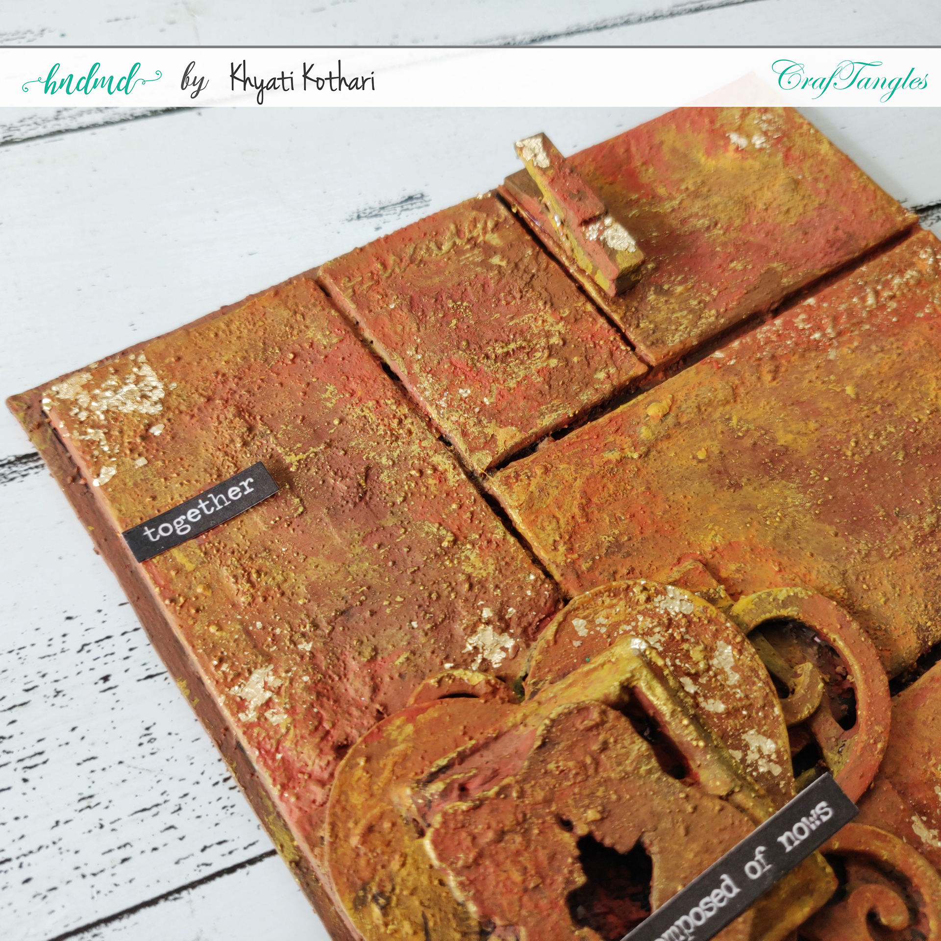 How to make a simple Altered Frame from Chipboard 2