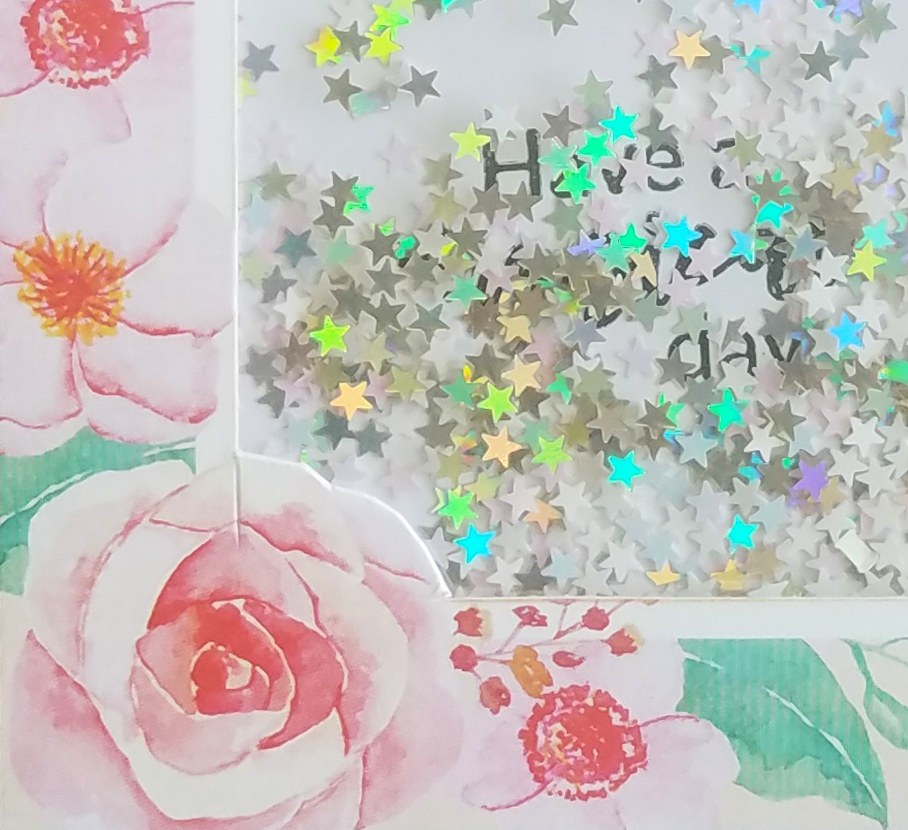 How to make Floral shaker cards 1