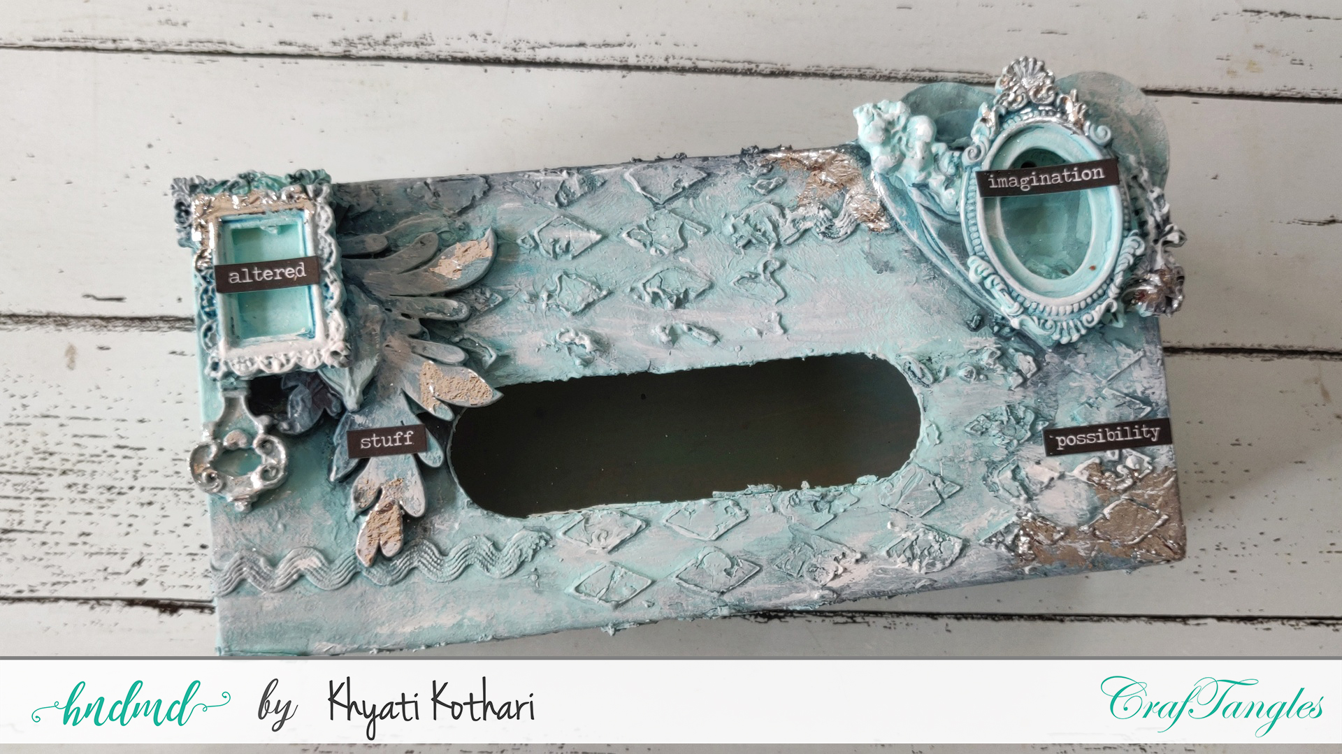 An Altered box tutorial using Mixed media technique 8