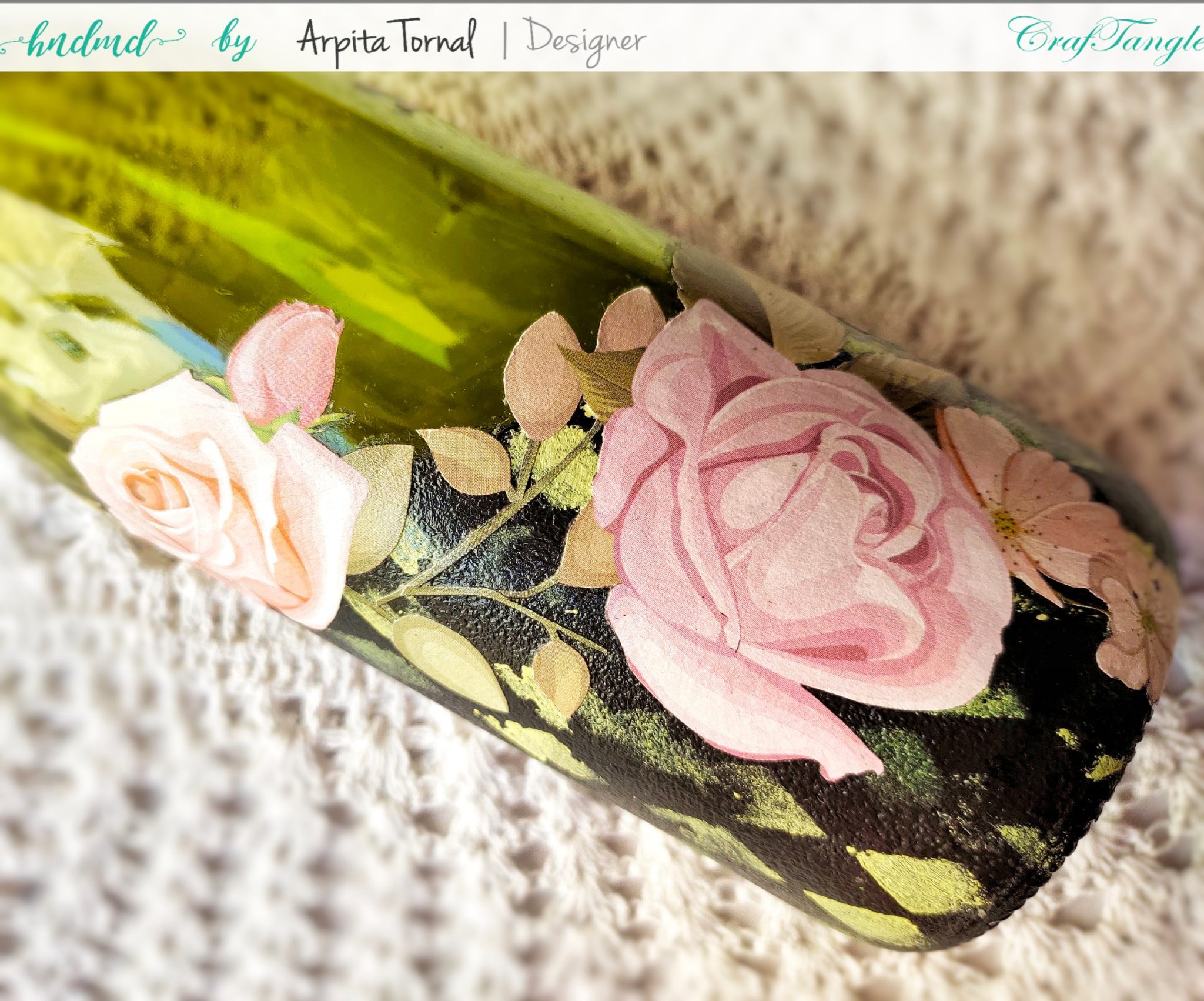 How to Decoupage on glass bottles 3